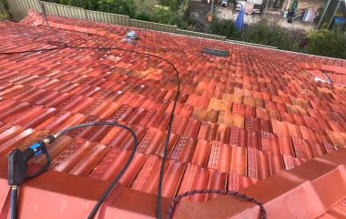 Clay Roof Painting before & after